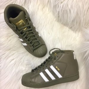 NWT Adidas Olive Army Green HighTop Sneakers